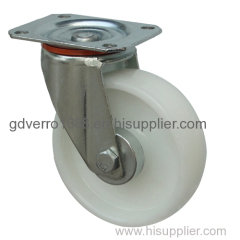 5 inches white PA swivel industrial casters with roller bearing