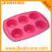 6 cavity daisy flower cupcake pan silicone baking molds