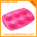 6 cavity daisy flower cupcake molds silicone bakeware moulds