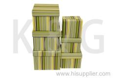 Strips Patterned Square Box Set