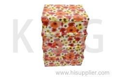 Daisy Patterned Rectangle Box Set