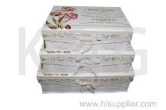 Plants Patterned Rectangle Flap Lid Box Set