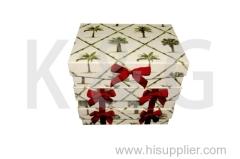 Coconut Tree Patterned Rectangle Flap Lid Box Set