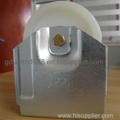 high load capacity 4 inches fixed nylon industrial non-standard casters with special bracket shape