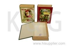 Book Shape Paper Box Set Santa
