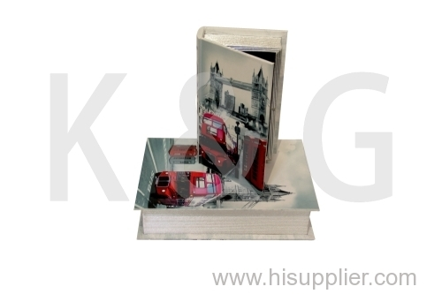 Bus Patterned Book Shape Paper Box Set