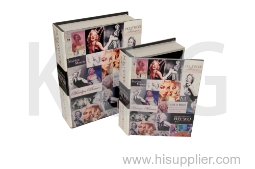 Movie Star Patterned Book Shape Paper Box Set