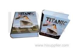 Titanic Patterned Book Shape Paper Box Set
