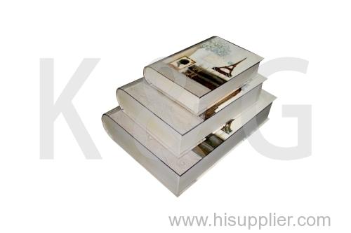 Paris Patterned Book Shape Paper Box Set