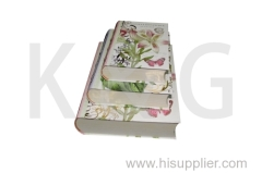 Patterned Book Shape Paper Box Set Flower
