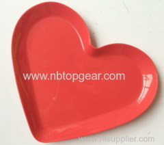 Plastic heart shape fruit tray