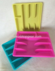 Food grade plastic rectangle cultery tray