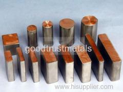titanium clad copper for electron