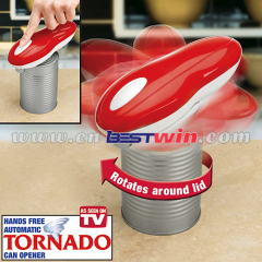 Tornado push button can opener
