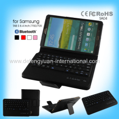 Bluetooth keyboard with folding pu leather case for Samsung Tab S 8.4 inch T700/705