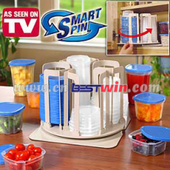 Spin store plastic container set/smart spin
