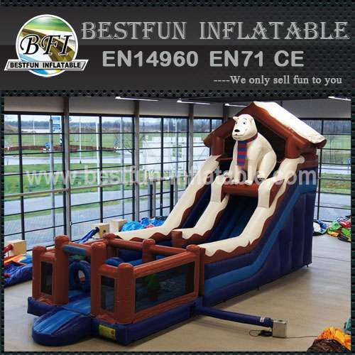 Inflatable Slide Polar Bear