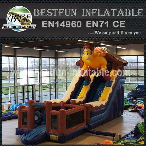 Skier inflatable commercial slide