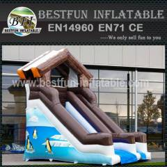 Winter snow inflatable water slide