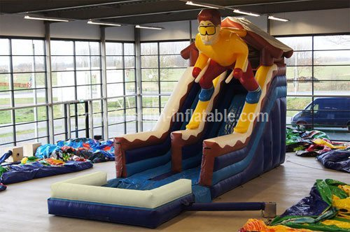 China inflatable skier slide for adult