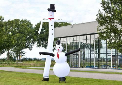 Customized inflatable snowman air dancer