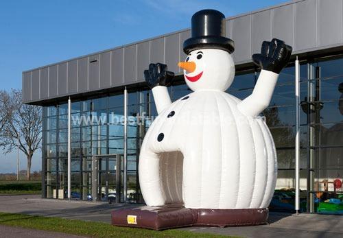 Giant inflatable bouncy castle snowman