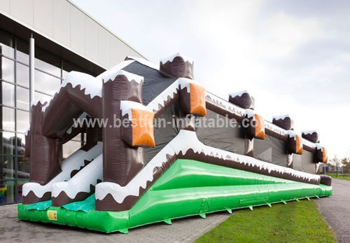 Inflatable Double Lane Slip Slide