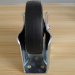 5 inches fixed black elastic solid rubber casters