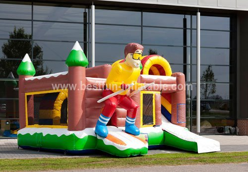 Skiing Inflatable Bounce House