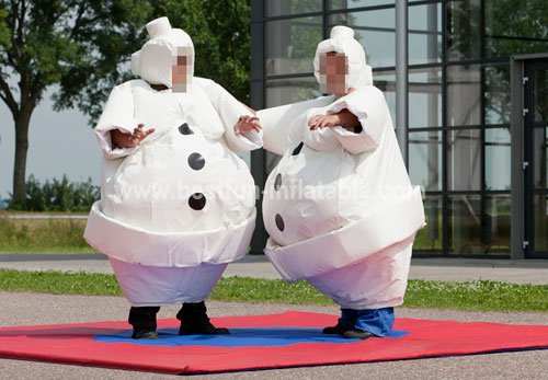 White Snowman Sumo Suit and inflatable wrestling suit for audlt