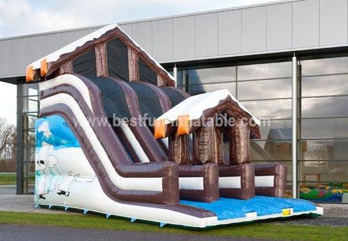 Winter hot sale cheap jungle inflatable slide