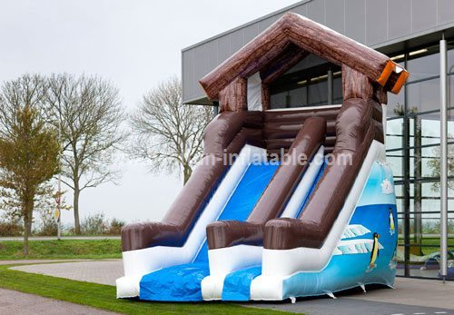 Winter theme big inflatable slides for sale
