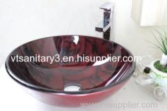 foiled glass sink washing basin