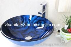 glass vessel sink bathroom basin