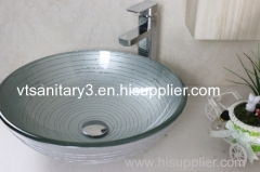 Aquabrass glass basin counter top glass basin