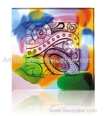 colorful liu li brick art glass craft crystal decorations