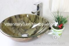 artiful glass vessel resin basin