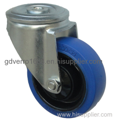 swivel elastic solid rubber casters