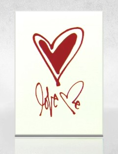 advertising playing card|Valentine's Day playing card