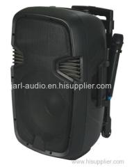 "15"" rechargeable PA speaker portable amplifier"