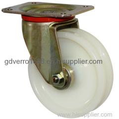 Swivel V-groove nylon wheel casters