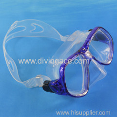Tempered glass scuba diving mask single lens window with wide sight
