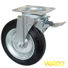 8 inches garbage container rubber wheel locking swivel casters