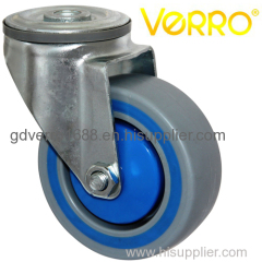 Industrial swivel PP casters with damping ring for trolley