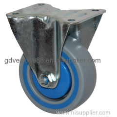 Fixed PP industrial casters with damping ring