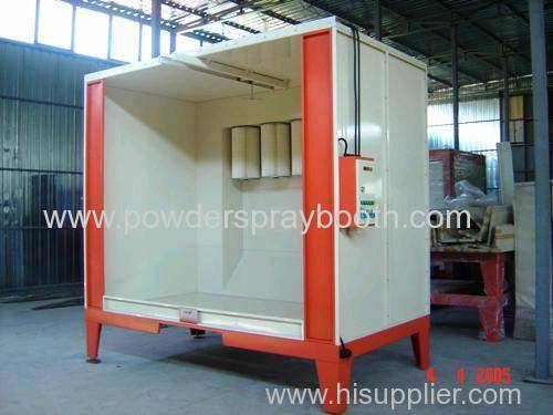 Powder coating spray booth design products china for Powder coating paint booth