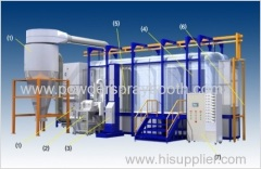 big cyclone powder coating booth