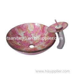 counter top glass basin porcelain pedestal basin