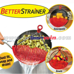 Expandable strainer plastic vegetable water strainer