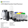 Fashion 21pcs Multi Function Food Blender